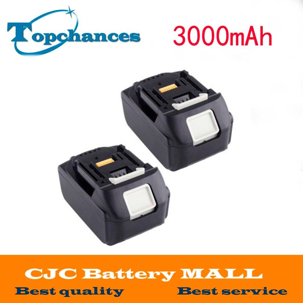 2pcs 3000mAh 18V Battery for MAKITA BL1830 BL1815 BL1835 194204-5 BTD140 BCF201 bisley bcf 64 b64