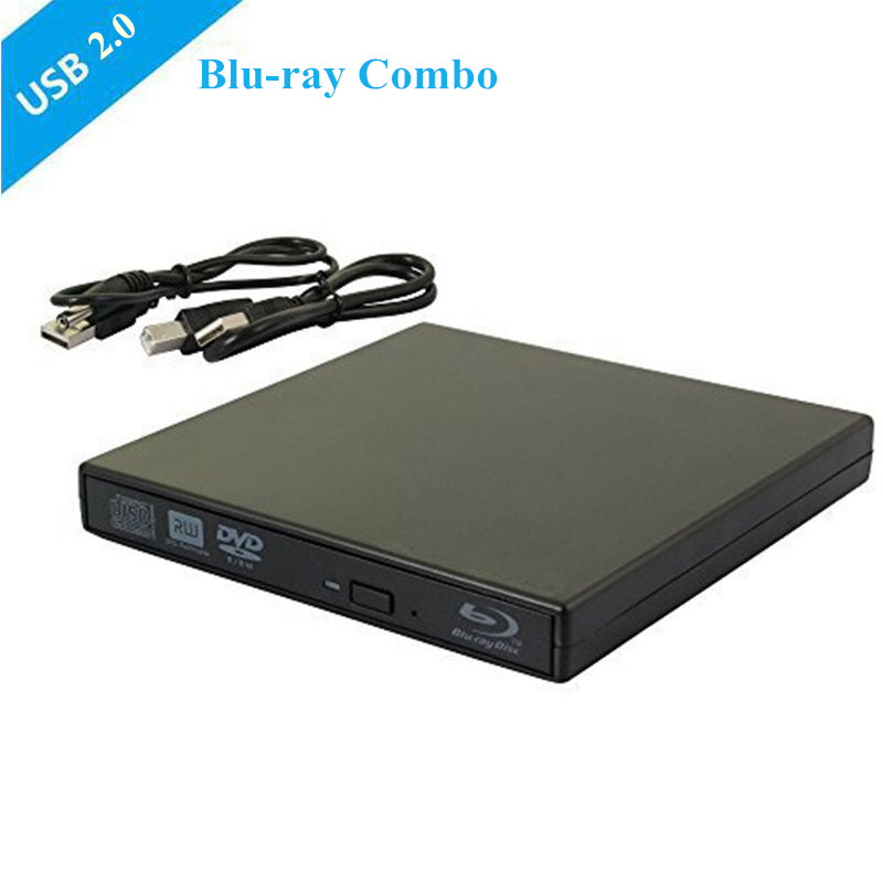 Bluray Player External  DVD Drive combo USB 2.0 BD/DVD/CD-ROM Player CD/DVD-RW Burner  Recorder Portatil for Windows10 Mobile PC bluray player external usb 3 0 dvd drive blu ray 3d 25g 50g bd rom cd dvd rw burner writer recorder for windows 10 mac os linux