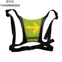 YUANMINGSHI Cycling Safety LED Vest Motorcycle Reflective Safety Body Vest LED Cycle Pilot Lamp Reflective Safety Vest