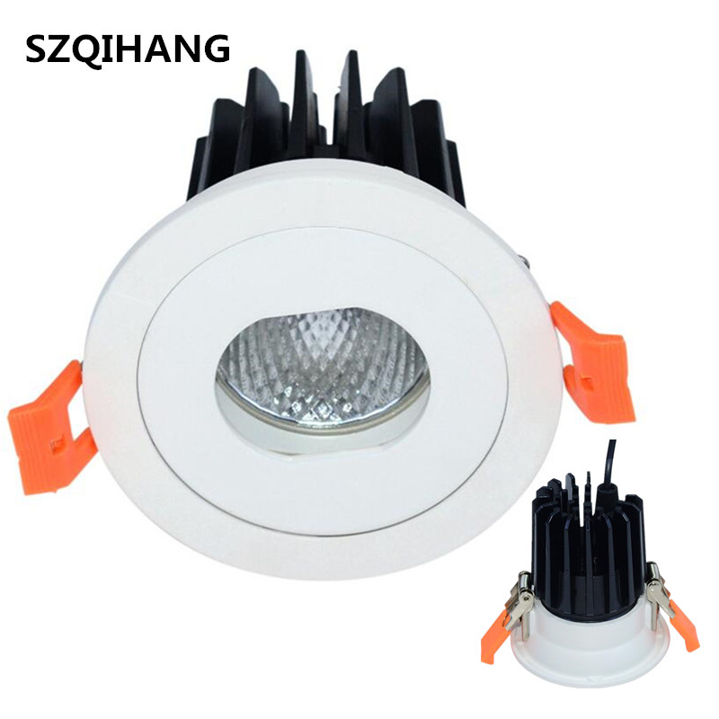 Dimmable COB 10W Warn Cold White LED wash wall lights Recessed Down Light hotel spotlights led day