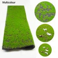 2 шт 25*50 см DIY газон Модель газона трава коврик открытый пейзаж микро пейзаж ручной работы песок Настольный Материал модели здания