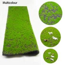 2 قطعة 25*50 سنتيمتر DIY بها بنفسك مسطح عشبي أخضر نموذج سجادة من الحشيش الصناعي في الهواء الطلق المشهد المشهد الصغير اليدوية طاولة الرمل بناء نموذج المواد