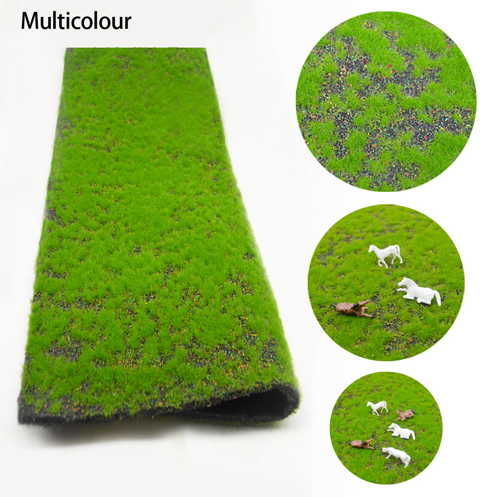 2pcs 25*50cm DIY Turf Lawn Model Grass Mat Outdoor Landscape Micro Landscape Handmade Sand Table Building Model Material