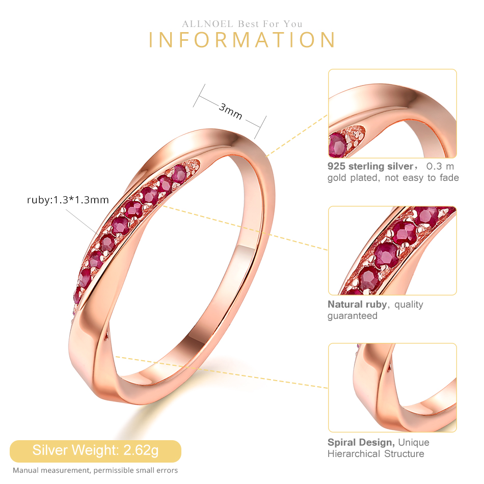 ALLNOEL Genuine 925 Sterling Silver Ring For Women 1.3mm Blue Sapphire Ring Luxury Wedding Engagement Jewelry Rose Gold 3 Colors (6)