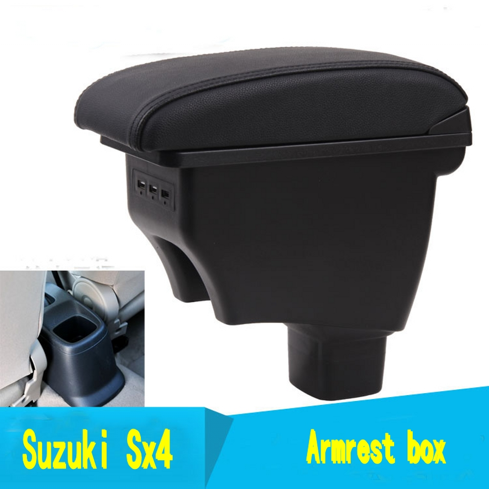 Car Rotatable Armrest For <font><b>Suzuki</b></font> <font><b>Sx4</b></font> 2007-2013 Arm Rest Center Centre Console Storage Box 2008 2009 2010 2011 <font><b>2012</b></font> image