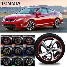 8M Car Wheel Hub Rim Edge Protector Ring Tire Strip Guard Rubber Decals For Honda Accord