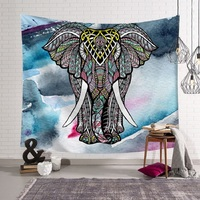 Bohemian Elephant Tapestry Indian Print Mandala Wall Hanging indian Tapestry mandala wall Blanket Tapiz mandalas para parede