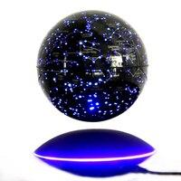 Self перенаправление антигравитации Маглев Глобус вращения карта мира с Светодиодный свет маленький ремесло украшения дома миниатюры
