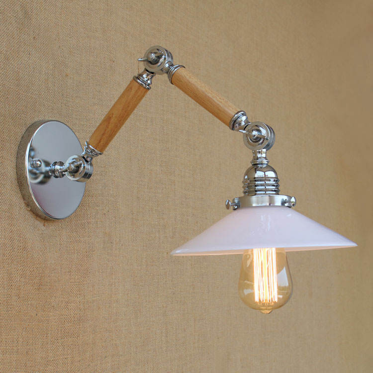 ?Nordic Loft Style Wooden ? Retro Retro Wall Lamp Vintage Industrial ? ?? Wall Wall Light ...