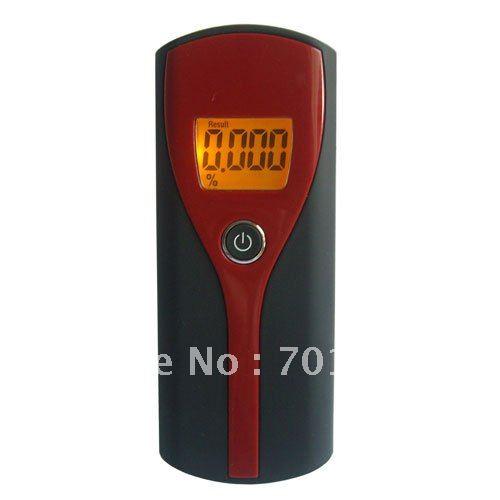Livraison gratuite!!! 10 pcs/lot rétro-éclairage Orange rétro-éclairage à 3 chiffres écran LCD analyseur d'haleine testeur d'alcool avec voies respiratoires