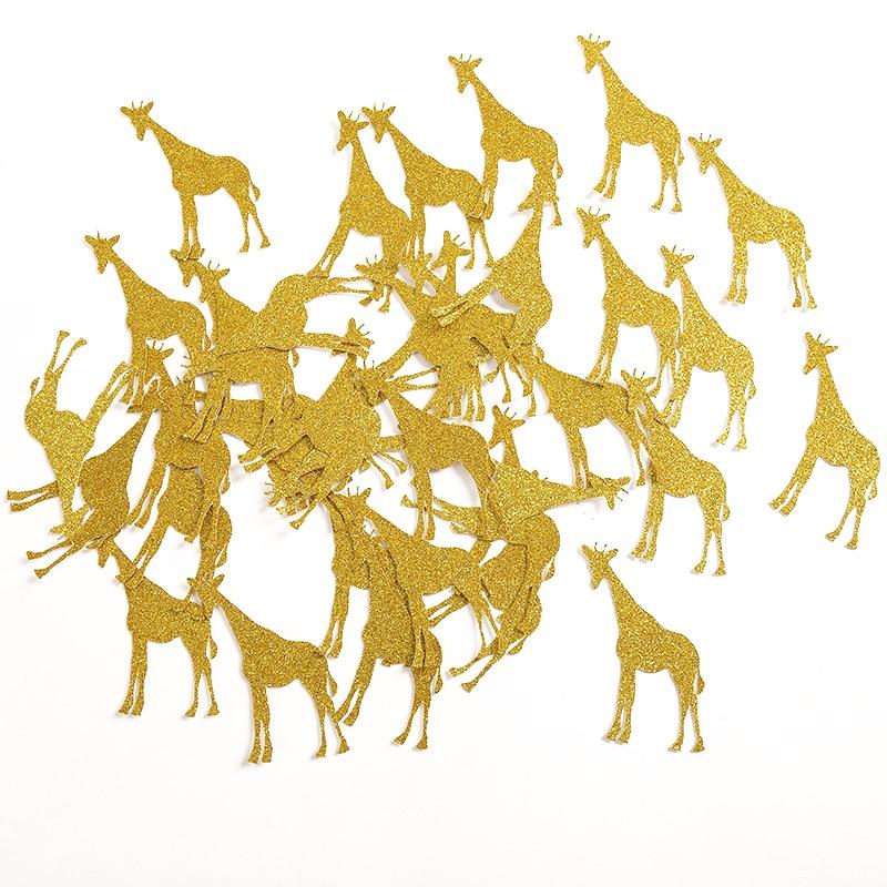 Aur / Argint / Negru Glitter Masă de girafă Confetti pentru Copii Duș / Copii Copii Zi de naștere Animale de partid Decoratiuni Favorizează Consumabile