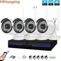 4CH CCTV Системы Беспроводной 960 P NVR 4 шт. 1.3MP ИК Крытый P2P Wi-Fi IP камера видеонаблюдения Камера Системы комплект видеонаблюдения