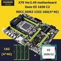 HUANAN V2.49 X79 LGA 2011 motherboard CPU RAM combos Xeon E5 1650 C2 CPU RAM 16G(4*4G) DDR3 RECC NVME SSD M.2 port max 4*16G RAM