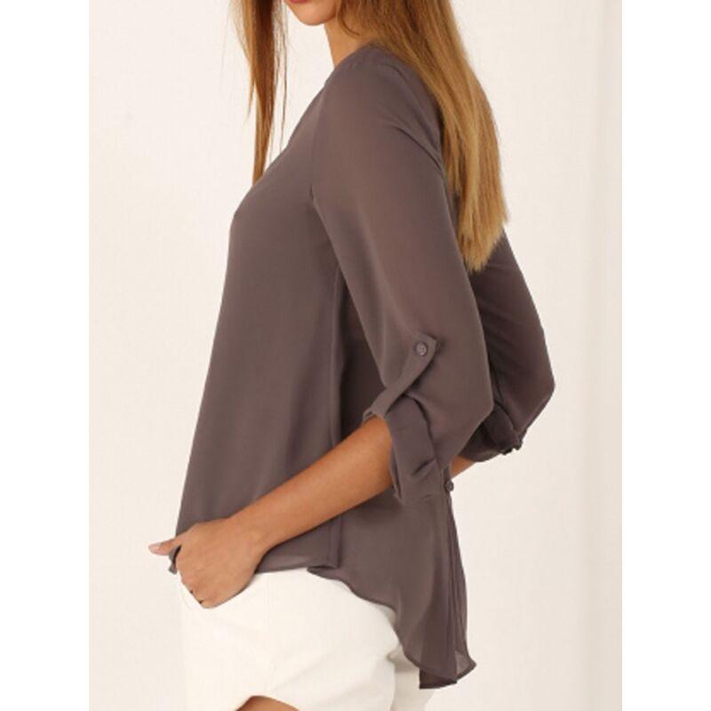 Fashion Women Blouse & shirt Plus Size S-4XL kimon Female long sleeve chiffon blouse Chic Elegant Lady Loose Tops chiffon shirt 1