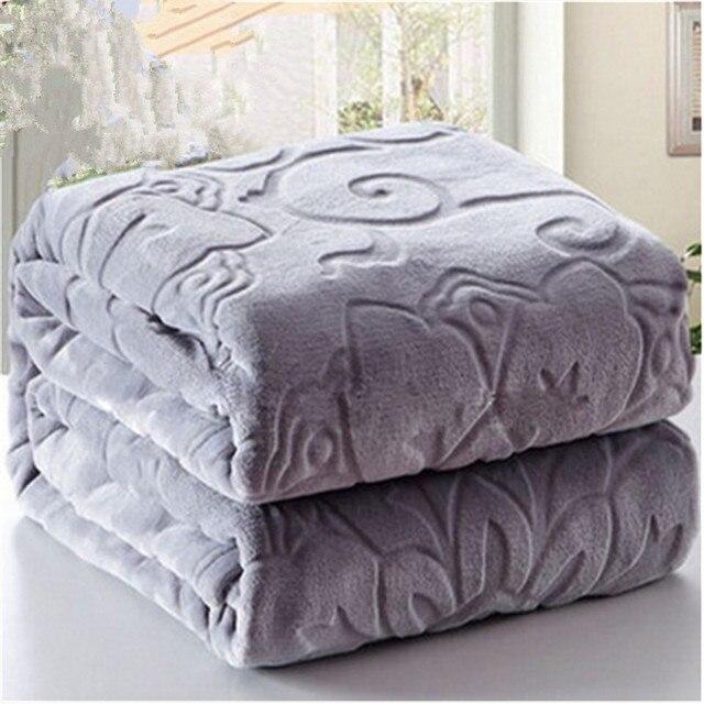 New Winter Bedding Blankets 100 Microfiber Emboss Home