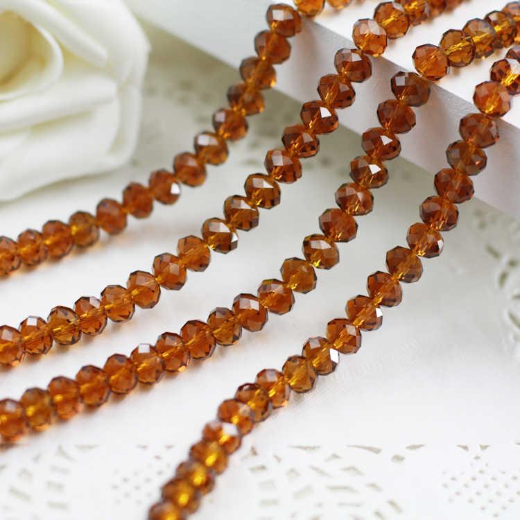 5040 AAA najwyższej jakości ciemno bursztynowy kolor kryształki luzem szkło Rondelle beads.2mm 3mm 4mm, 6mm, 8mm 10mm, 12mm darmowa wysyłka!