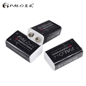 Image 4 - פאלו 4 pcs ליתיום 600 mAh 9 V נטענת סוללות סוללה עבור GM300 IR מדחום אינפרא אדום שלט רחוק אלקטרוני מוצרים