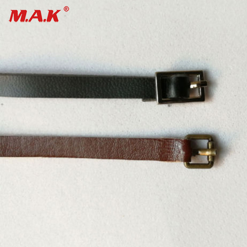 1:6 Scale Leather Belt Model Black/Brown Belt For 12'' Female/Male Action Figure