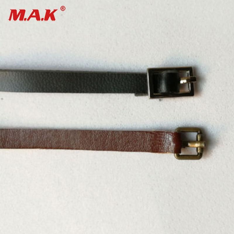 1:6 Scale Leather Belt Model Black/Brown Belt For 12 Female/Male Action Figure1:6 Scale Leather Belt Model Black/Brown Belt For 12 Female/Male Action Figure