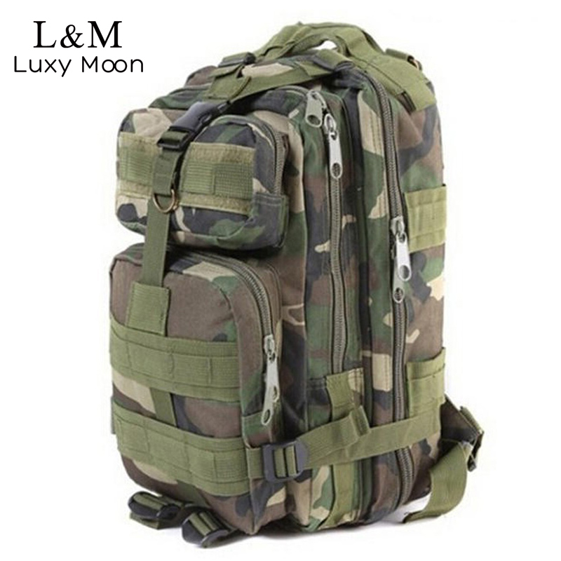 Men Camouflage Backpack Military Survival Rucksack Men's Travel Mountaineering Bag Large Capacity Luggage Bags mochila XA258H