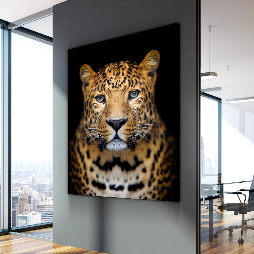 Nordic Canvas Painting Beautiful Jaguar Animal Cuadros Decoracion Paintings on Canvas Wall Art for Home Decorations Wall Decor in Painting Calligraphy from Home Garden
