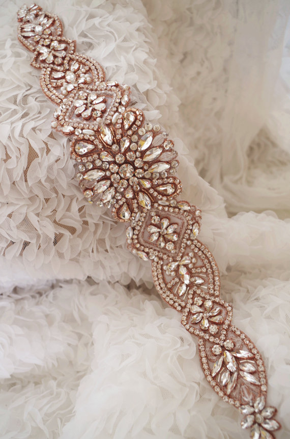 Us 509 Rose Gold Strass Sash Gürtel Kristall Braut Schärpe Gürtel Hochzeit Handwerk Braut Schärpe Liefern 2016 Neue Ankunft Bestseller Rae0115 In