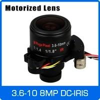 Motor 8Megapixel Varifocal 4K Lens DC IRIS 1/1.8 inch 3.6 10mm D14 Motorized Focus and Zoom For IMX334/OS08A10 CCTV IP Camera