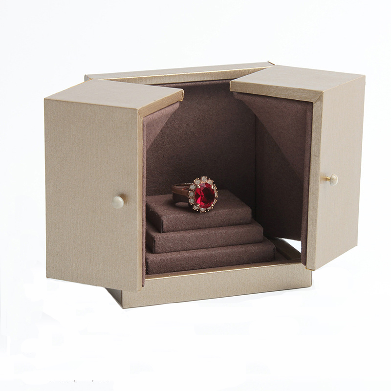 New High-grade Earrings Ring Jewelry Paper Wedding Boxes 8.7x5x9.1cm Jewelery Accessories Double Door Boxes Packaging Case H2202