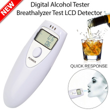 1 Pz Professionale Alcohol Analyzer Polizia Digital Breath Alcohol Tester Analizzatore Display LCD Respiro alcol Tester HX-64()