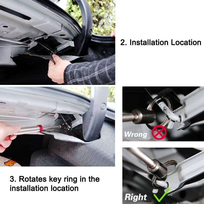 1 հատ Նոր չժանգոտվող պողպատ Car - Ավտոմեքենայի ներքին պարագաներ - Լուսանկար 5