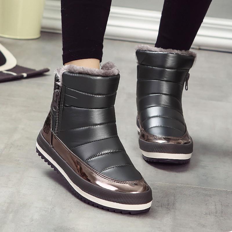 Fashion Women Boots Waterproof Women Winter Short Snow ...