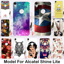 TAOYUNXI Soft TPU Silicone Phone Cover Case For Alcatel Shine Lite Cases Gel Phone Bag Shell For One Touch Shine Lite 5080 5080X(China)