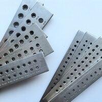 Round Shape 0.12 13mm Half Round Hexagon Holes 0.55 7mm Tungsten Carbide Wire Drawplate Die Jewelry Making Tools