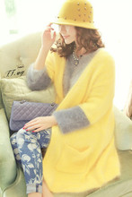 Mink cashmere cardigan South Korea relaxed Sweater coat Exemption from postage