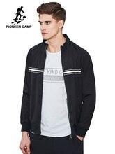 Pioneer Camp nowy projekt kurtka wiosenna płaszcz mężczyźni marka odzież moda czarna kurtka mężczyźni top quality płaszcz na co dzień mężczyzna AJK703006