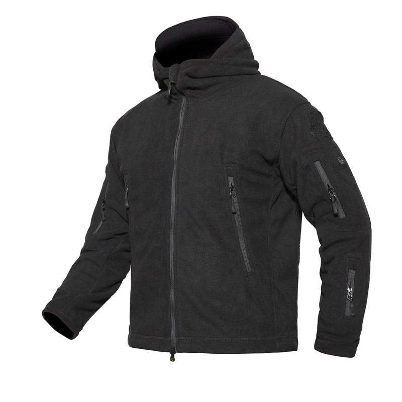 c540f5d78d Chaquetas de lana para hombre al aire libre TAD militar suave Shell abrigo  térmico sólido de manga larga caza Camping senderismo chaqueta