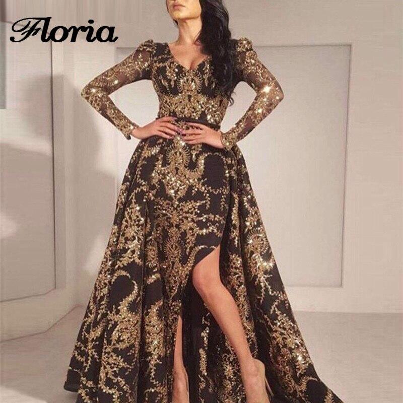 African Muslim Evening Dresses Turkish Arabic In Dubai Long Sleeves Formal Prom Dress For Weddings Aibye Kaftan Glitter Gowns