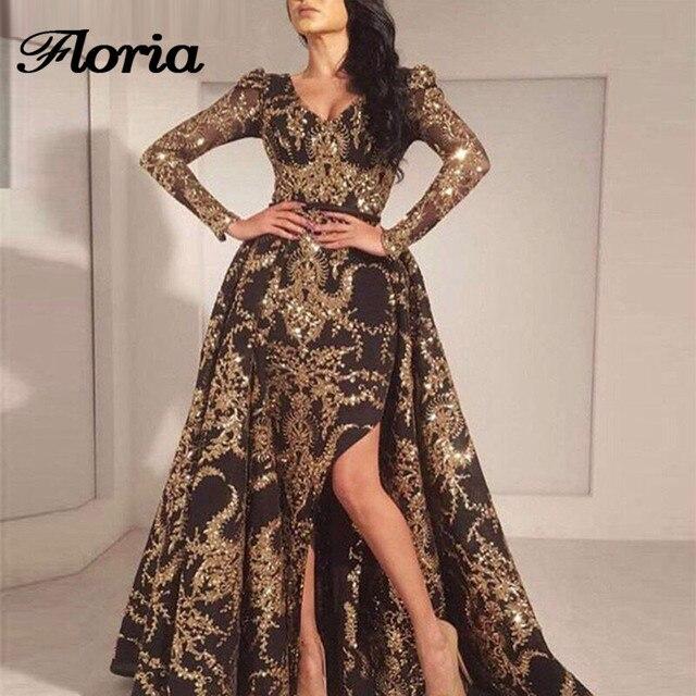 African Muslim Evening Dresses Turkish Arabic In Dubai Long Sleeves Formal  Prom Dress For Weddings Aibye Kaftan Glitter Gowns 5933f825bf5b