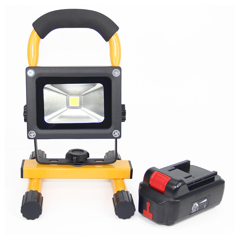 10W LED Floodlight portable Lanterns Waterproof Outdoor Indoor led spotlight with 4400mah detachable battery For Camping Hiking 30% off 2pcs ultrathin led flood light 50w black ac85 265v waterproof ip66 floodlight spotlight outdoor lighting free shipping