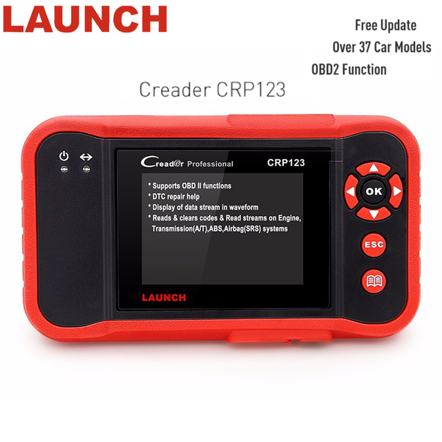 Special Price Genuine Launch Creader CRP 123 obd 2 Code Reader Auto Diagnostic Tool Free Update Engine/ABS/SRS/AT X431 Scanner PK Creader vii+