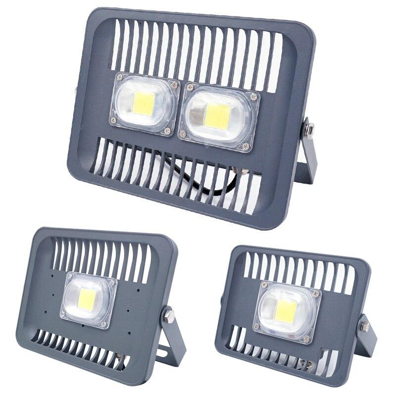 Waterproof IP65 20W 30W 50W LED Floodlight AC85-265V Spotlight Smart IC COB Epistar Wall Lamp White/Warm White/Red/Green/Blue