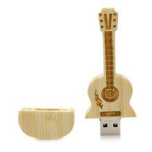 100% high quality guitar-shaped pen drive wooden guitars model usb flash drive memory Stick pendrive 4GB 8G 16GB 32GB gift