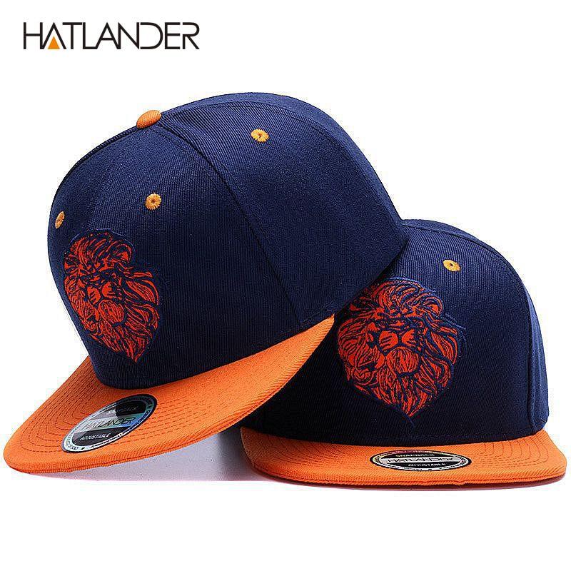 De alta calidad de León cara bordado del casquillo del snapback del genial rey  hip hop sombrero para niños y niñas en Gorras de béisbol de Deportes y ocio  ... fab12cfe192