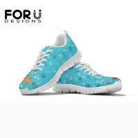 FORUDESIGNS 3D Veterinarian Surgeon Pattern Women Flats Sneakers Shoes Woman Comfortable Summer Light Air Mesh Shoes for Ladies