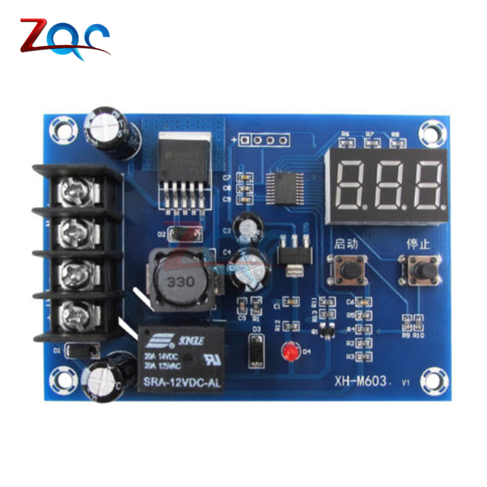 Image 2 - XH M603 Charging Control Module 12 24V Storage Lithium Battery Charger Control Switch Protection Board With LED Display-in Instrument Parts & Accessories from Tools