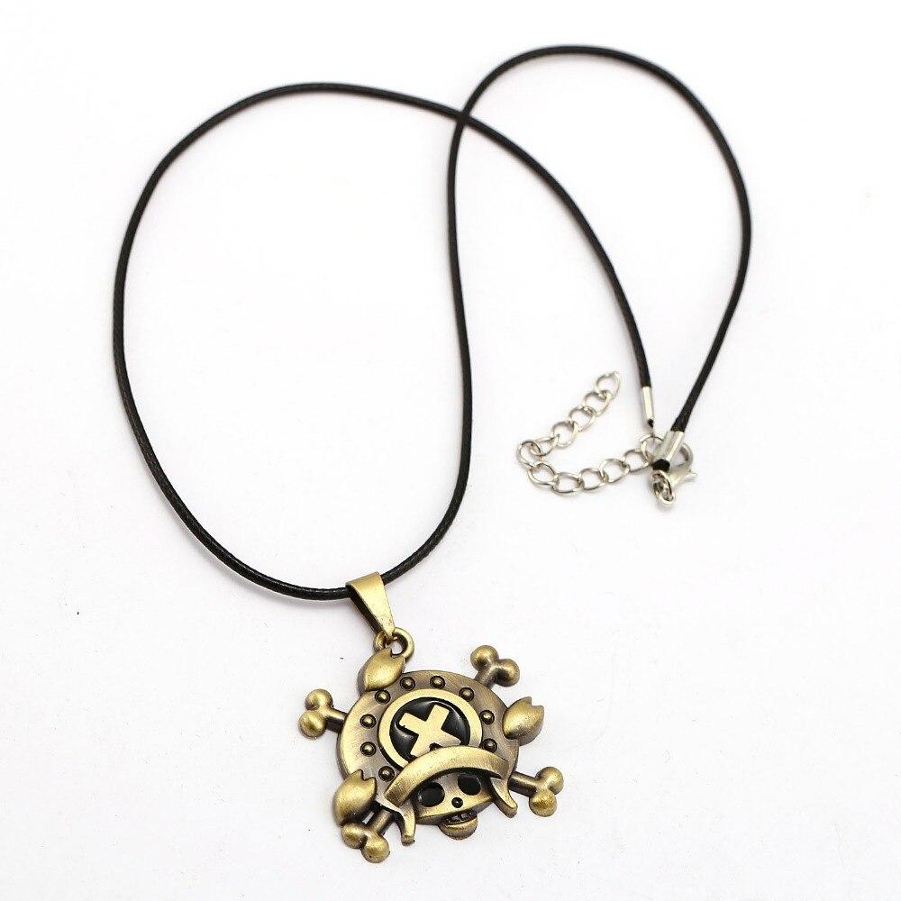 10pcs/lot One Piece Necklace Tony Tony Chopper Fashion Rope Pendant fans Anime Accessories