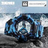 New Skmei Camouflage Men Watch Luxury Brand Watches Digital Clock Fashion Silicone Camo Watch Sports Wristwatch