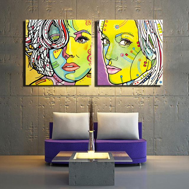 Abstract Portrait Posters And Prints Unframed Beautiful Girl Modern ...