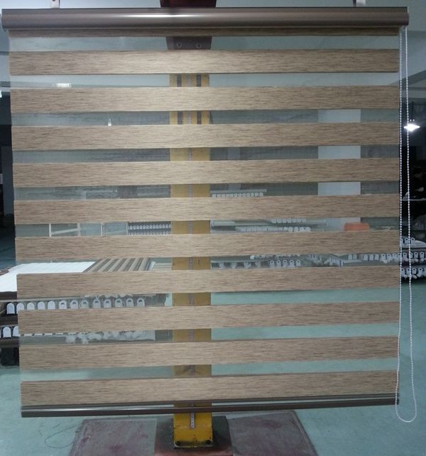 Custom Made 100 Polyester Translucent Roller Zebra Blinds In Brown Window Curtains For Living Room