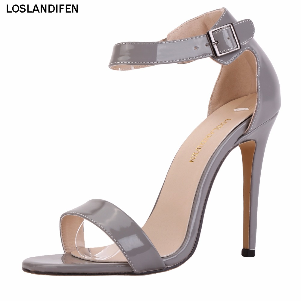 Womens Handcrafted Real Picture Zweiteilige 100mm High Heel Knöchel Sommersandalen Schuhe 102-3